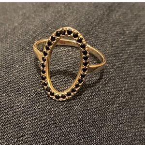 Unique 14kt black Spinel ring